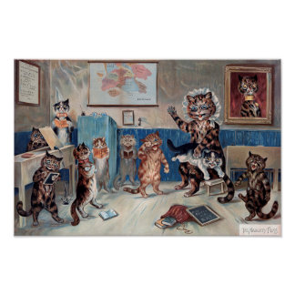 The Naughty Puss, Louis Wain Poster