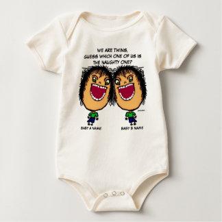 The Naughty Twin Baby Bodysuits