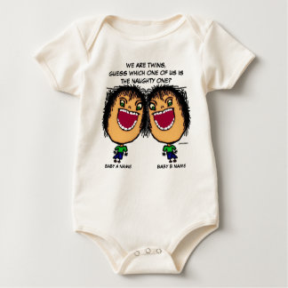 The Naughty Twin Baby Bodysuits
