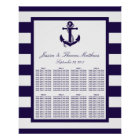 The Nautical Anchor Navy Stripe Wedding Collection Poster