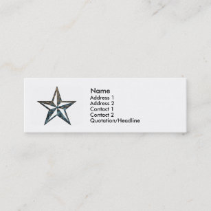 Nautical star business cards business card printing zazzle uk the nautical star mini business card reheart Gallery