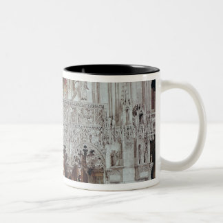 The Nave and Interior of Eglise Two-Tone Coffee Mug