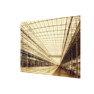 The Nave at Crystal Palace, Hyde Park, March 1852 Gallery Wrapped Canvas
