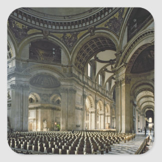 The Nave of St. Paul's Cathedral (photo) Square Sticker