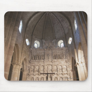 The Nave Of The Monastery Of Santa Maria De Poblet Mouse Mat