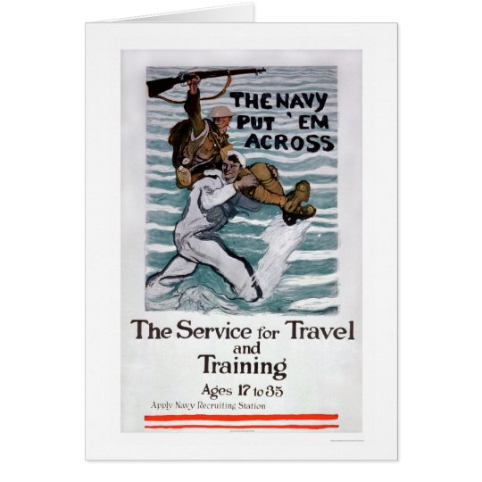 The Navy Put 'Em Across (US02295) Card