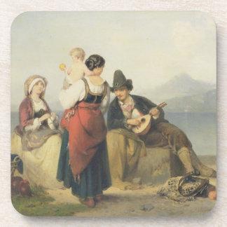 The Neapolitan Family, 1865 (oil on panel) Beverage Coaster