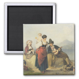 The Neapolitan Family, 1865 (oil on panel) Magnet
