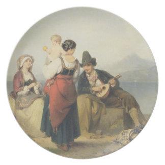 The Neapolitan Family, 1865 (oil on panel) Plates