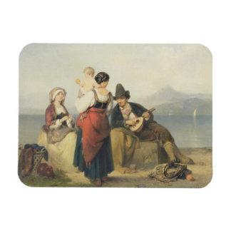 The Neapolitan Family, 1865 (oil on panel) Rectangular Photo Magnet