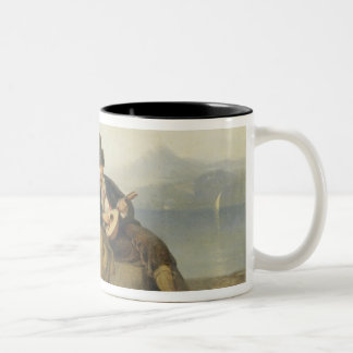 The Neapolitan Family, 1865 (oil on panel) Two-Tone Coffee Mug