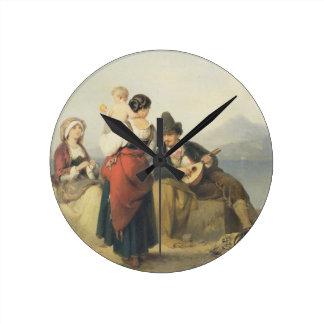 The Neapolitan Family, 1865 (oil on panel) Wallclock