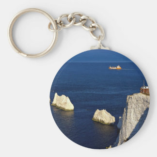 The Needles and lighthouse, Isle of Wight, U.K. Key Chains