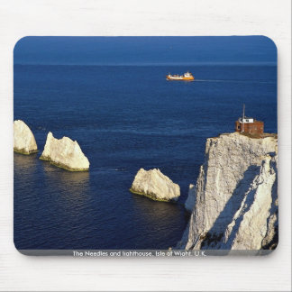 The Needles and lighthouse, Isle of Wight, U.K. Mousepads