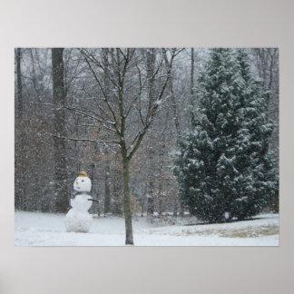 The Neighbor's Snowman Print