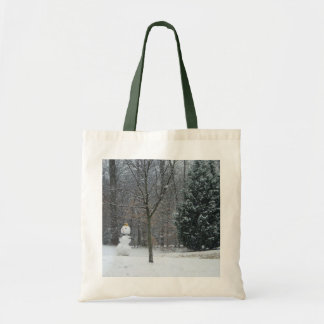 The Neighbor's Snowman Winter Snow Photography Tote Bag