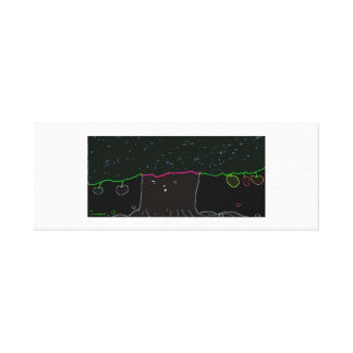 The Neon Fruit Tree Canvas Print