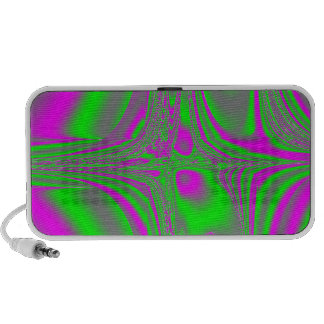 The neon sound wave collection speaker