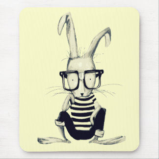 The Nerd Rabbit Mouse Mat