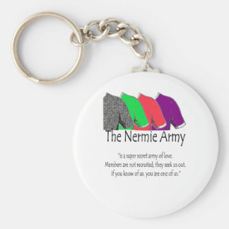 The Nermie Army Basic Round Button Key Ring