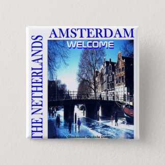 THE NETHERLANDS 15 CM SQUARE BADGE