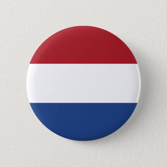 The Netherlands Flag 6 Cm Round Badge