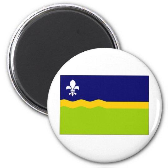 The Netherlands Flevoland Flag 6 Cm Round Magnet