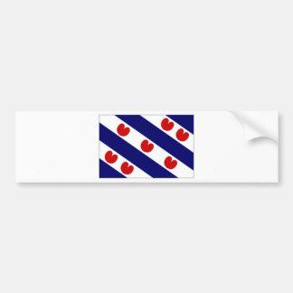 The Netherlands Friesland Flag Bumper Sticker
