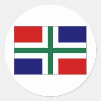 The Netherlands Groningen Flag Classic Round Sticker