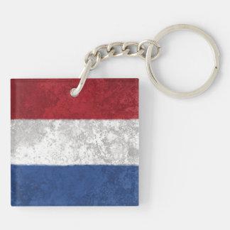 the Netherlands Square Acrylic Keychain