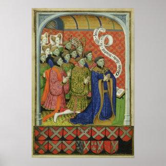 The Neville family at prayer Poster