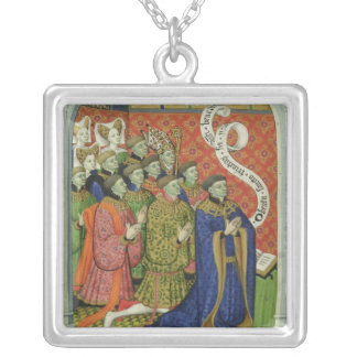 The Neville family at prayer Silver Plated Necklace