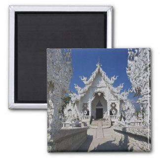 The new all white temple of Wat Rong Khun in Square Magnet