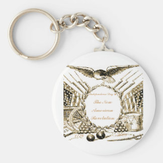 The NEW American Revolution Basic Round Button Key Ring