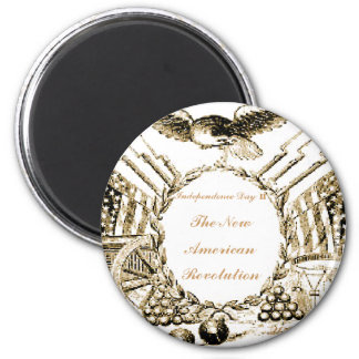 The NEW American Revolution 6 Cm Round Magnet
