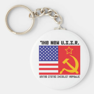 The New Cold War! Basic Round Button Key Ring