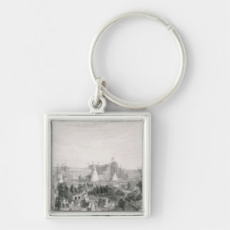 The New Crystal Palace at Sydenham, engraved by La Silver-Colored Square Key Ring