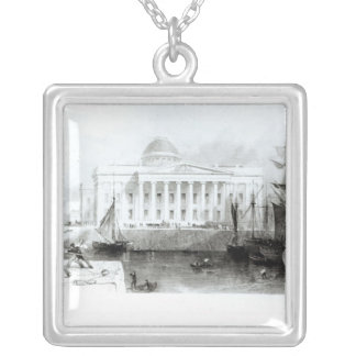 The New Custom House, Liverpool, c.1830 Silver Plated Necklace