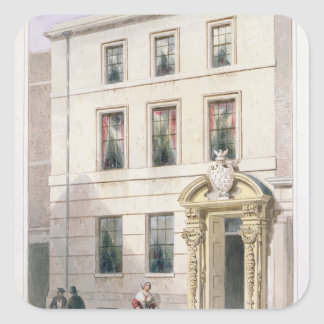 The New Front of Painter Stainers Hall, 1850 Square Sticker