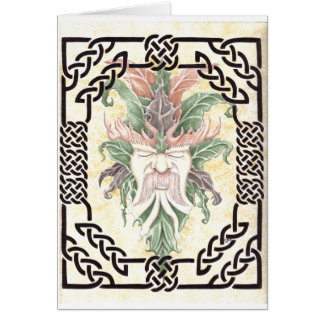 the new Green Man Greeting Card