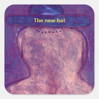 The new hat sticker