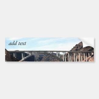 The New Hoover Dam Bypass Bridge Bumper Sticker