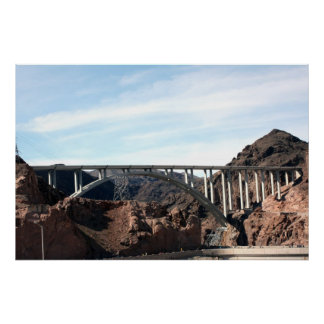 The New Hoover Dam Bypass Bridge Poster