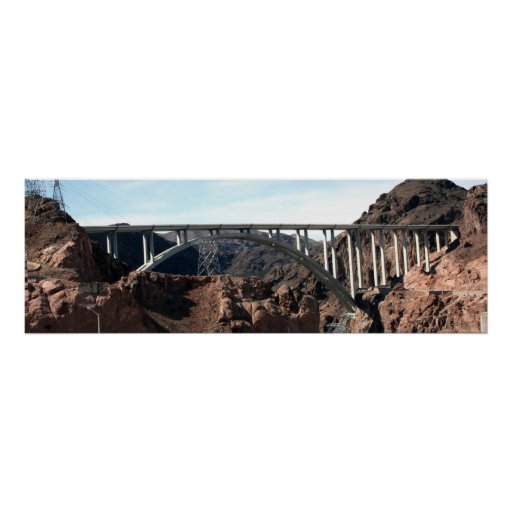 The New Hoover Dam Bypass Bridge Print