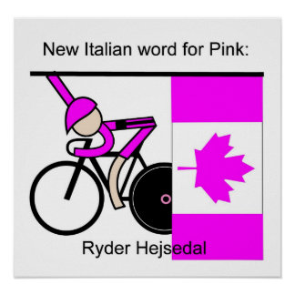 The New Italian Word for Pink Posters