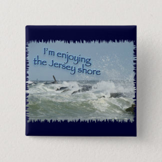 The New Jersey Shore 15 Cm Square Badge