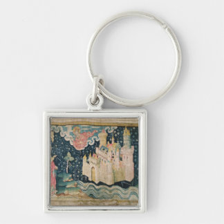 The New Jerusalem Silver-Colored Square Key Ring