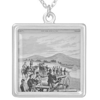 The new model Gatling Gun Silver Plated Necklace