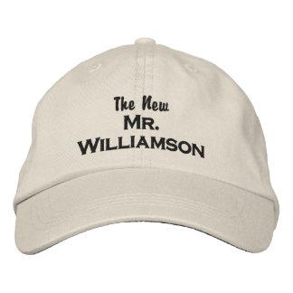 The New Mr. Custom Groom Wedding Baseball Cap