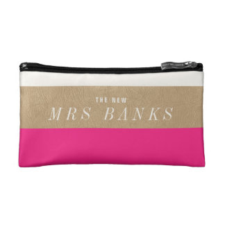The New Mrs. Hot Pink Cosmetic Bag